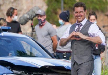 تام کروز با وجود افزایش کرونا در بریتانیا فیلمش را ادامه میدهد