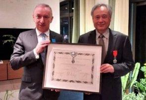 «آنگ لی» نشان لژیون دونور فرانسه را دریافت کرد