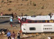 سازمان راهداری تأیید کرد: مقصر بودن راننده در حادثه واژگونی اتوبوس خبرنگاران